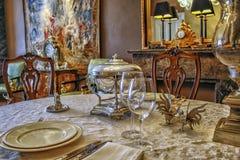 elegancki tabeli obiad Obrazy Royalty Free
