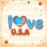 Elegancki tekst dla Amerykańskiego dnia niepodległości świętowania Fotografia Royalty Free
