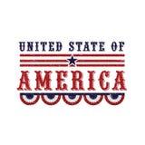 Elegancki tekst dla Amerykańskiego dnia niepodległości świętowania Obraz Stock