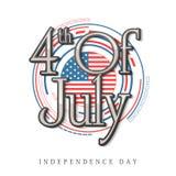 Elegancki tekst dla Amerykańskiego dnia niepodległości świętowania Obrazy Royalty Free