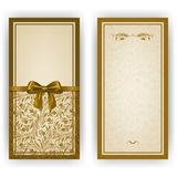Elegancki wektorowy szablon dla luksusowego zaproszenia, Obrazy Stock