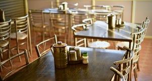 Elegancki wewnętrzny projekt restauracyjna akcyjna fotografia zdjęcie royalty free