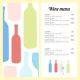 Elegancki wino listy szablon minimalnie Zdjęcie Royalty Free