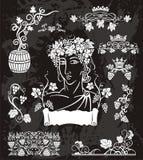 Elegancki winorośl set ilustracji