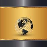 elegancki złocisty świat ilustracja wektor