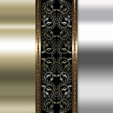Elegancki złoto i brown tło Zdjęcie Royalty Free