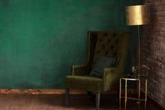 Elegancki zielony pokój Zdjęcia Royalty Free