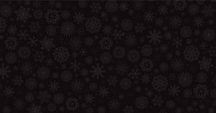Elegancki zimy czerni tło z srebro spada śnieżnymi płatkami ilustracji