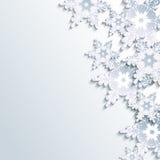 Elegancki zimy tło, abstrakcjonistyczny 3d płatek śniegu Zdjęcie Royalty Free