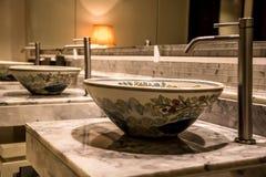 Elegancki zlew w łazience Obrazy Royalty Free