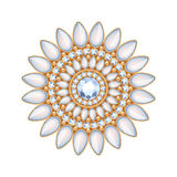 Eleganckich gemstones biżuterii wektorowa dekoracja Zdjęcia Royalty Free
