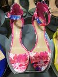 Eleganckich kobiet ` s buty na pokazie Zdjęcia Royalty Free