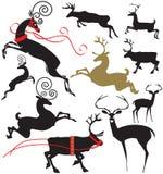 Eleganckie jelenie sylwetki Ilustracji