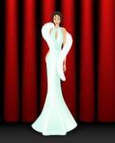Eleganckie kobiety na scenie Zdjęcia Royalty Free