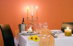 eleganckie miejsce stół Obrazy Royalty Free