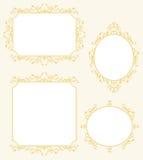 Eleganckie ramy granicy dekoracje Ustawiać Zdjęcia Royalty Free