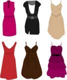eleganckie ubraniowe suknie ilustracja wektor