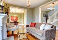 eleganckie zielone żywe izbowe ściany Obrazy Royalty Free