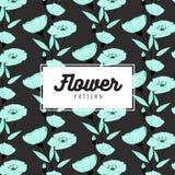 Eleganckiego kwiatu bezszwowy wzór na czarnym tle Tapetowy projekt Druk tekstura Tkanina projekt Obraz Royalty Free
