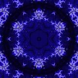 Eleganckiego rocznika tapetowy projekt Koronkowy wzór Retro wiktoriański w indygowym i błękitnym kolorze ilustracji