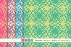 Eleganckiej bezszwowej pastelowej tło setu spirali round krzywa ilustracja wektor