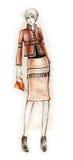 eleganckiej mody ilustracyjny strój Zdjęcia Stock