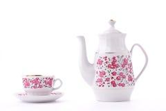 eleganckiej porcelany ustalona herbata Zdjęcie Royalty Free