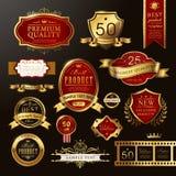 Eleganckiej premii ilości złote etykietki inkasowe ilustracji