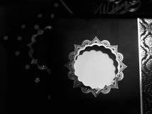 Eleganckiej zaproszenie karty czarna & biała akcyjna fotografia Fotografia Royalty Free