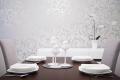 Elegancko przygotowany stół obrazy royalty free