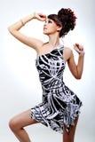 Elegancy e bellezza di giovane bella ragazza Fotografie Stock Libere da Diritti