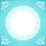 Elegand turquoise vintafe floral frame Royalty Free Stock Photography