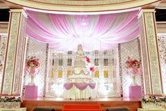 Elegansbröllopgarnering fotografering för bildbyråer
