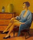 eleganskvinna stock illustrationer