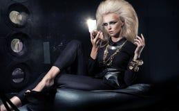 Eleganskvinna Royaltyfri Bild