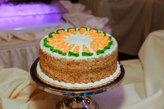 0Elegant豪华事件安排甜点 点心桌婚礼装饰 免版税库存照片