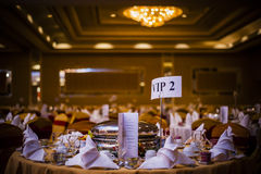 Elegant äta middag tabell Arkivfoto