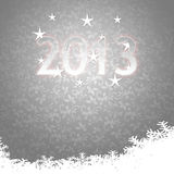 Elegant 2013 Happy Holidays during winter card Stock Photography