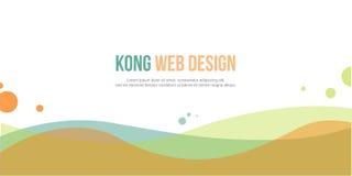 Elegant abstarct header website design Stock Photography