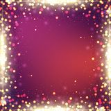 Elegant abstract background with bokeh defocused lights. Colorful abstract background stock illustration