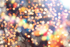 Elegant abstract background with bokeh lights and stars Stock Photography