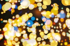 Elegant abstract background with bokeh lights and stars Stock Images
