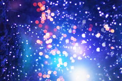 Elegant abstract background with bokeh lights and stars Royalty Free Stock Photos