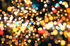 Elegant abstract background with bokeh lights and stars Stock Photo