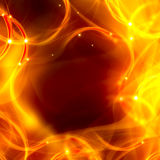 Elegant abstract background. Of chaotic fire lines Royalty Free Stock Image