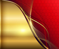 Elegant abstract background. Red and gold royalty free illustration