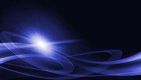 Elegant abstract background. With waves and rays Royalty Free Stock Photo