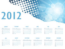 Elegant abstract calendar 2012 Stock Photos