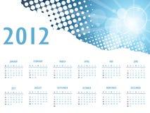 Elegant abstract calendar 2012. Beautiful illustration stock illustration
