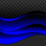 Elegant blue ribbon background Stock Images